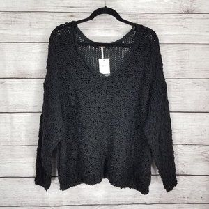 Free People M Sunday Shore Pullover Sweater Chunky
